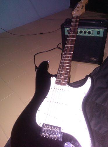 Guitarra Electrica Stagg Con Amplificador Y Accesorios