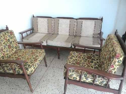 Juego De Muebles Sala Recibo En Madera De Cedro