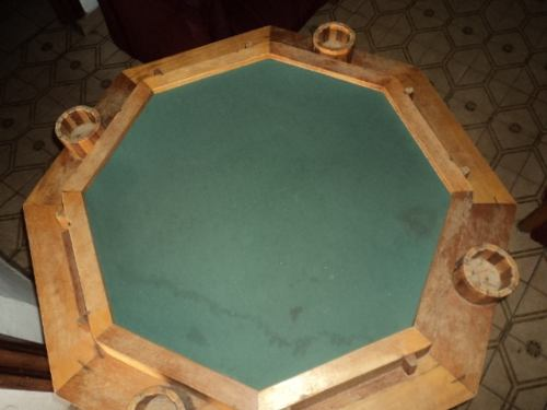 Mesa De Domino En Madera Octagonal,plegable,profesional