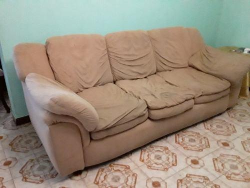Mueble Sofa De Recibo Mostaza 3 Puestos