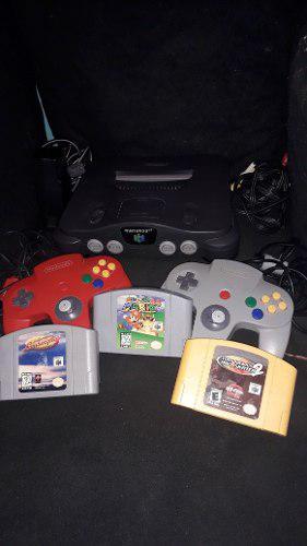 Nintendo 64 + 2 Controles + 3 Juegos (super Mario 64)