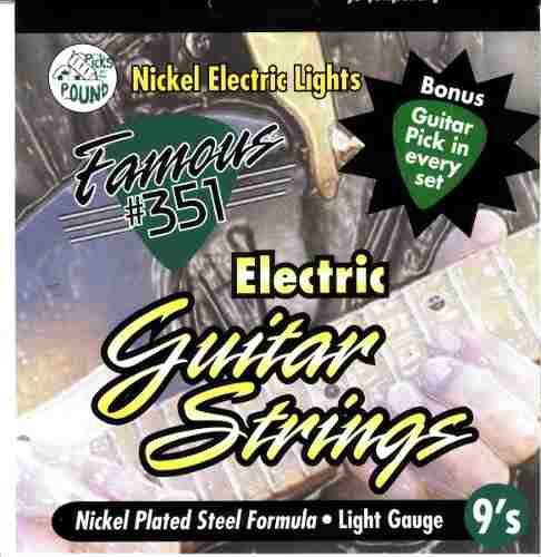Set De Cuerdas Para Guitarra Electrica 010 Famous 351