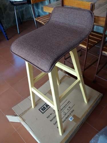 Silla Tipo Bar De Pino