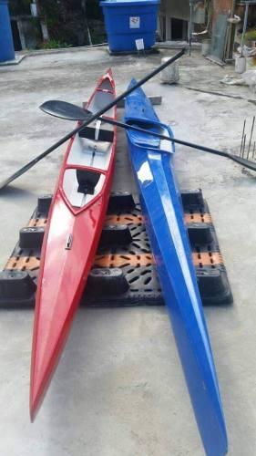 Kayak En Fibra De Vidrio Modelo Tiburon Combo