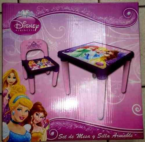 Set Mesa Y Silla Armable Princesas Disney
