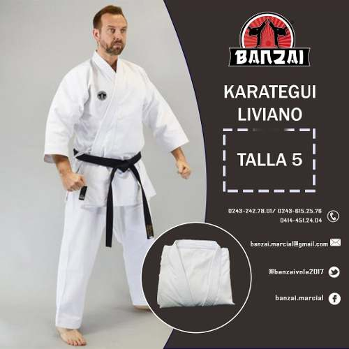 Karategui Banzai - Semi Pesado- Talla 4 Al 6