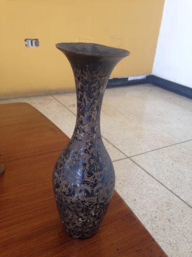Vendo Florero De Bronce Antiguo Importado De La India