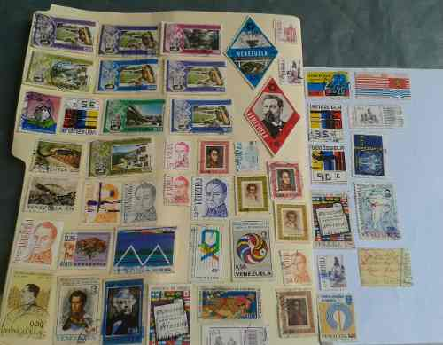 Estampillas Diversas De Venezuela De Colección 50 Selladas