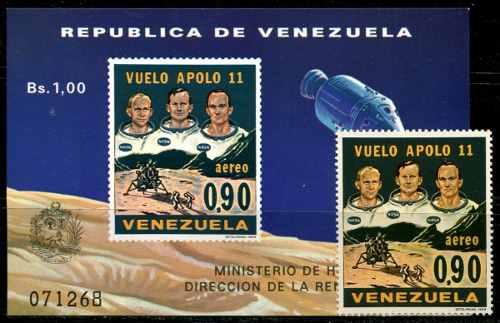 Estampillas Venezuela Año : Apolo 11