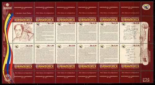 Estampillas Venezuela Año : Bicentenario