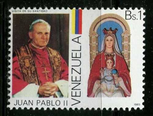 Estampillas Venezuela Año : Papa Juan Pablo Ii