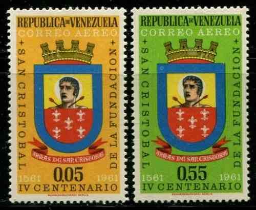 Estampillas Venezuela Año : San Cristobal