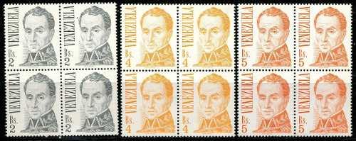 Estampillas Venezuela Año : Simón Bolívar