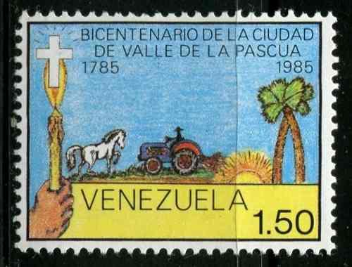 Estampillas Venezuela Año : Valle De La Pascua