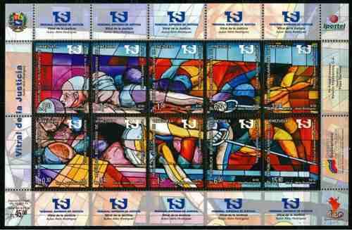 Estampillas Venezuela : Mural De La Justicia