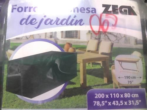Forro Protector Para Mesa Cuadrada De Jardin Zega