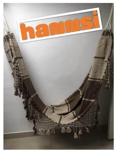 Hamaca Hannsi, Artesanal King Size Hecha A Mano Con Flecos