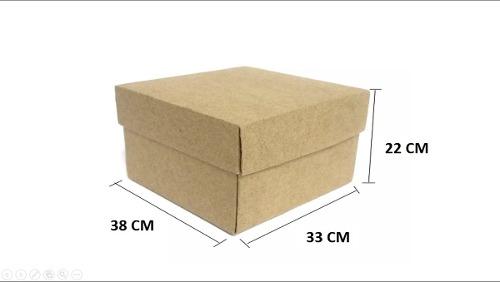 Lote De Cajas De Cartón Con Tapa Largo 38 X 33 X 22