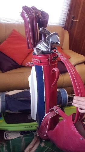 Palos De Golf Con Bolso Y Spalding Marca Wilson