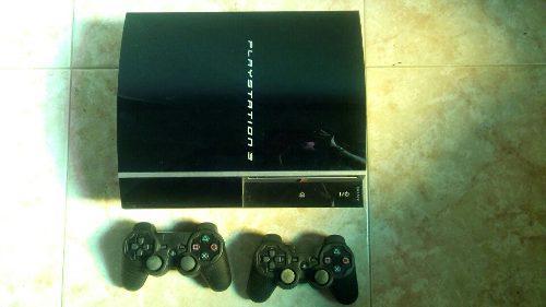 Playstation 3 80gb De Disco Con 2 Controles Y 7 Juegos