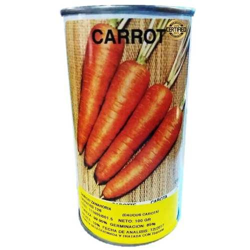 Semillas De Zanahoria Danvers Lata De 100 Gramos