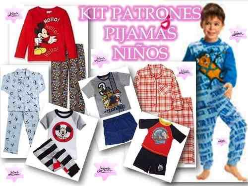 Kit Patrones Pijamas Niños Envío Gratis!