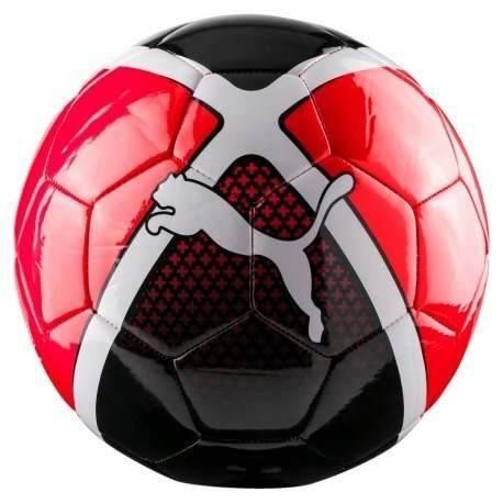 Balon Futsal Puma Evo Rojo Negro # 4 Bajo Bote Kzerola