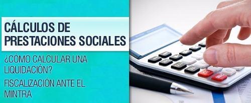 Cálculo Prestaciones Sociales (liquidaciones) (lottt)