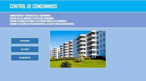 Programa Para El Control De Condominios En Excel+obsequio