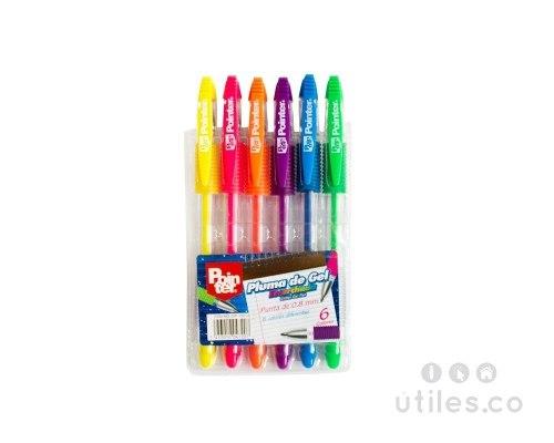 Bolígrafos Gel 6 Colores Marca Pointer (cati)