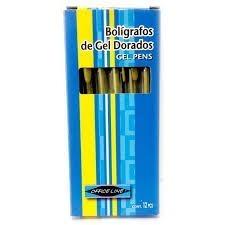 Boligrafos De Gel Dorado