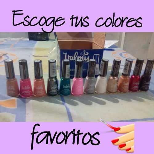 Caja Valmy 12 Esmaltes Con Tus Colores Favoritos!