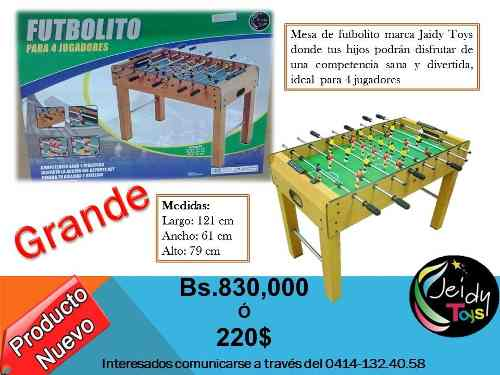 Mesa De Futbolito Grande Jeidy Toys