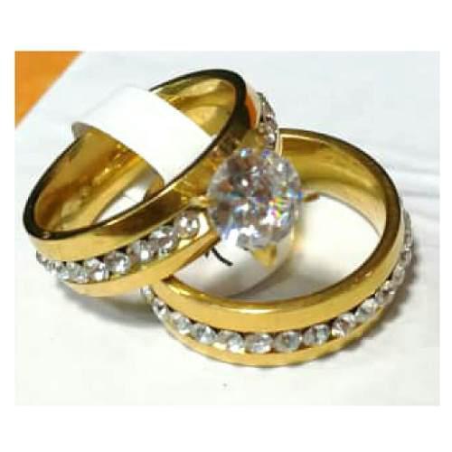 Anillos De Matrimonio Y Compromiso En Acero Inoxidable