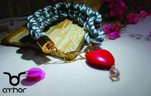 Pulseras Con Baño De Oro 18 K Y Piedras Semi Preciosas