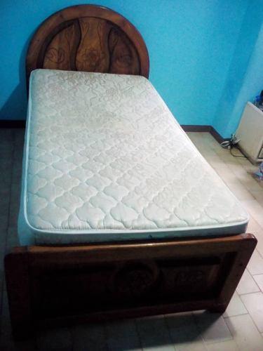 Cama Individual Con Colchon Pillow