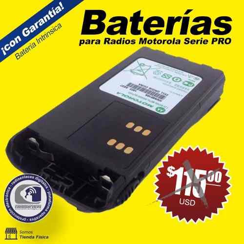 Batería Radio Motorola Serie Pro Intrínsecamente Seguras