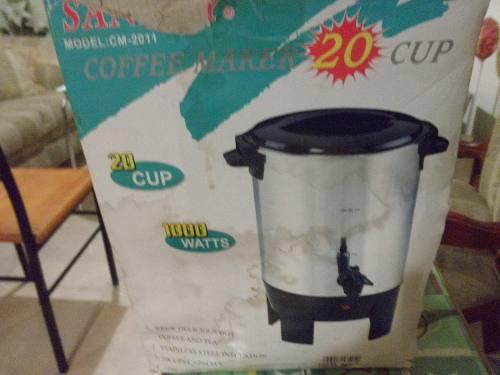 Cafetera Electrica Marca Sankey Acero Inoxidable 20 Tazas
