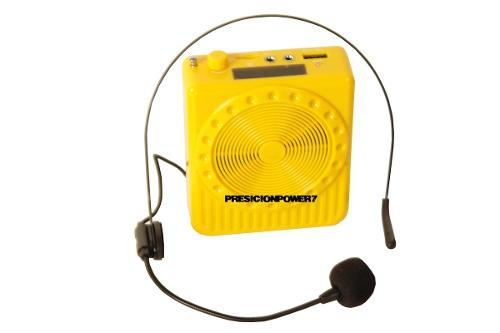 Corneta Amplificada Usb Mp3 Radio Fm Con Microfono