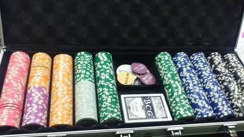Fichas De Poker Maletin Alumunio 497 Fichas 1 Juego De Carta