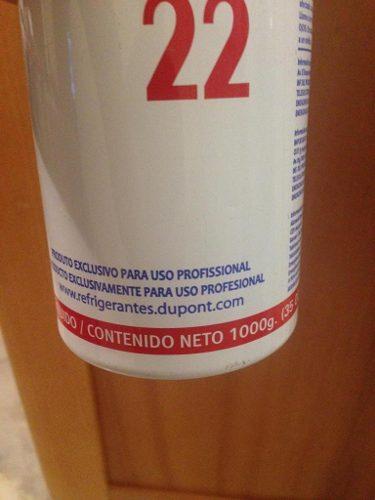 Gas R22 Bombona 1 Kilo