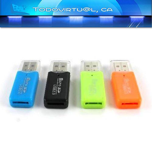 Lector Memoria Micro Sd Adaptador Usb Tipo Pendrive