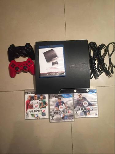 Playstation 3 (ps3) Con Ea Fifa  Y 1 Control Adicional