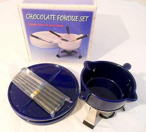 Set Para Chocolate O Queso Fondue Set