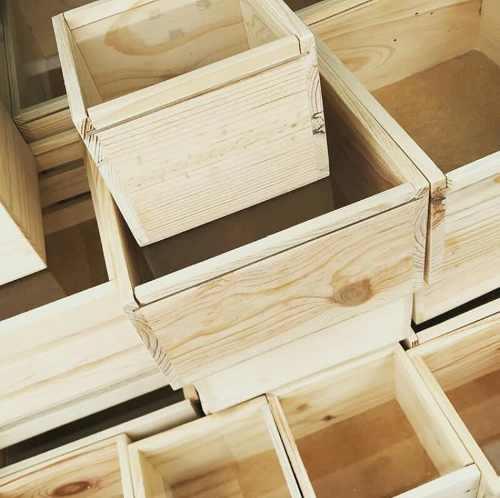 Caja De Madera De Pino Pulida
