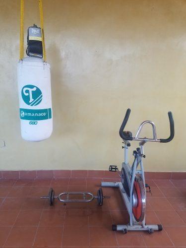 Se Vende Combo De Ejercicios Bicicletas Saco De Boxeo Y Pesa