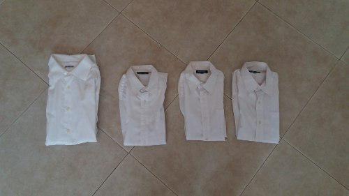 Combo De Camisas Mangas Largas Color Blanco