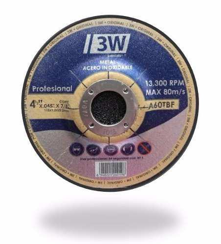 Disco De Corte Ultrafino 4 1/2x.45 Para Metal Y Acero Inoxid