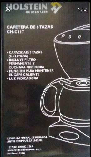 Cafetera Holstein De 6 Tazas Ch-c117 Nueva