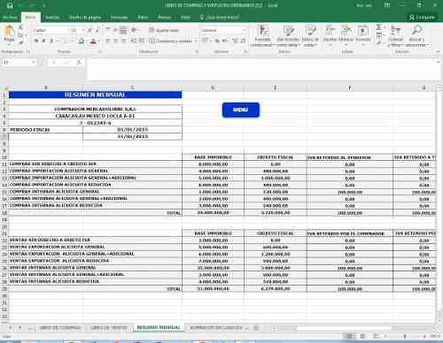 Contabilidad En Excel Planilla Programada
